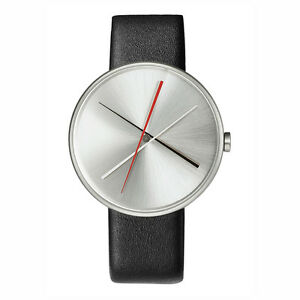Projects-Watches-034-Crossover-034-Cuarzo-Hombre-Plata-Piel-Negro-Reloj-Unisex-Acero
