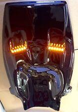 GLOSS BLACK ABS PLASTIC KAWASAKI ZX12R 2000-2005 UNDERTAIL W LEDS - NEW