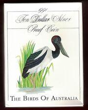 1991 Birds of Australia - Jabiru $10 Silver Proof Coin