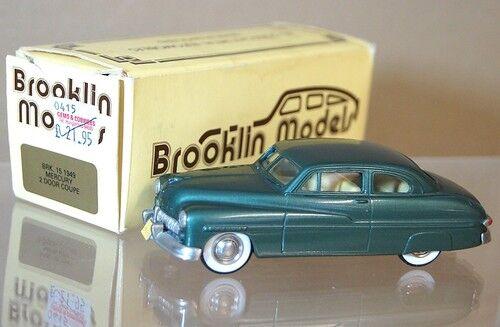 Brooklin Modèles 15 1949 Ford Mercury 2 Porte Coupe Vert MIB Mq