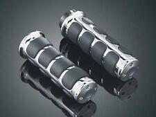 HARLEY DAVIDSON Chrome Comfort ISO Grips (Electronic Throttle) (KURYAKYN 6227)