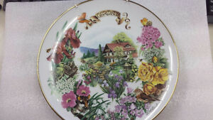 German-Country-Garden-by-Dot-Barlowe-7th-Issue-1989-Reco-Collectors-Plate