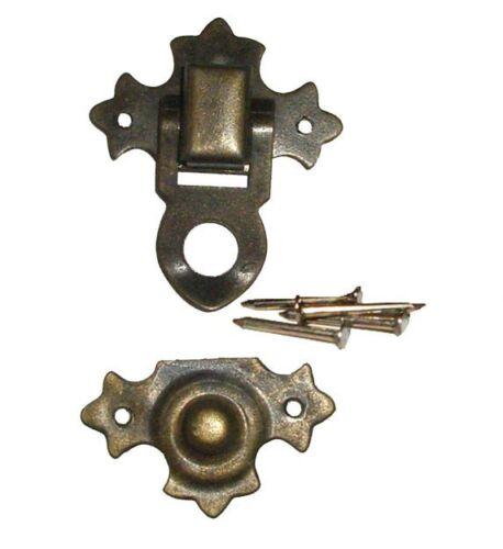 4  zum selbst anbringen Nägel 5 Stück Metall-Verschluß Nr incl
