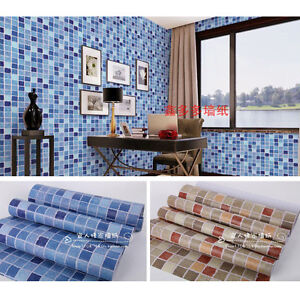 Autoadhesivo mosaico papel de pared pegatina baldosas suelo ba o cocina ebay - Papel pared autoadhesivo ...