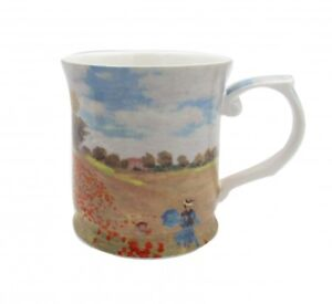 Monet-Poppies-415cc-Mug-Fine-Bone-China-Coffee-Tea-Cup-Mug-Birthday-Xmas-Gift
