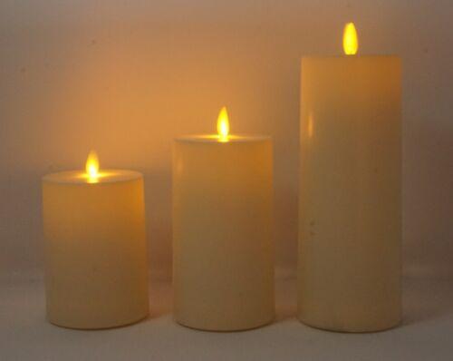 LED Kerze für Außen und Innenbereich elfenbein mit Timer 11//14//20 cm