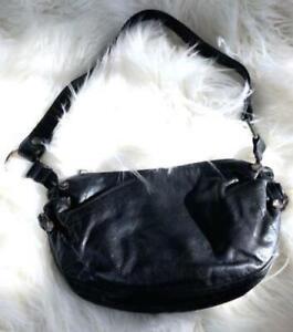 ebf613b7 Details about Emporio Armani Womens Small Crossbody Purse Handbag Black  Leather Italy