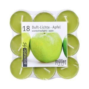 18-Duftteelichte-Apfel-gruen-ca-4-Stunden-Brenndauer