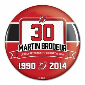 the best attitude 9e350 bf7fa Details about NJ MARTIN BRODEUR NEW JERSEY DEVILS OFFICIAL RETIREMENT GAME  BUTTON 2/9 RARE #30