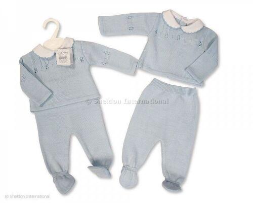 Bebé Niño de punto de estilo español gitana traje conjunto Azul Recién Nacido 0-3 3-6 meses
