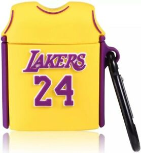 Details about Kobe Bryant Jersey Lakers No 24 Cover Case for Apple Airpods 1/2 Protection Case