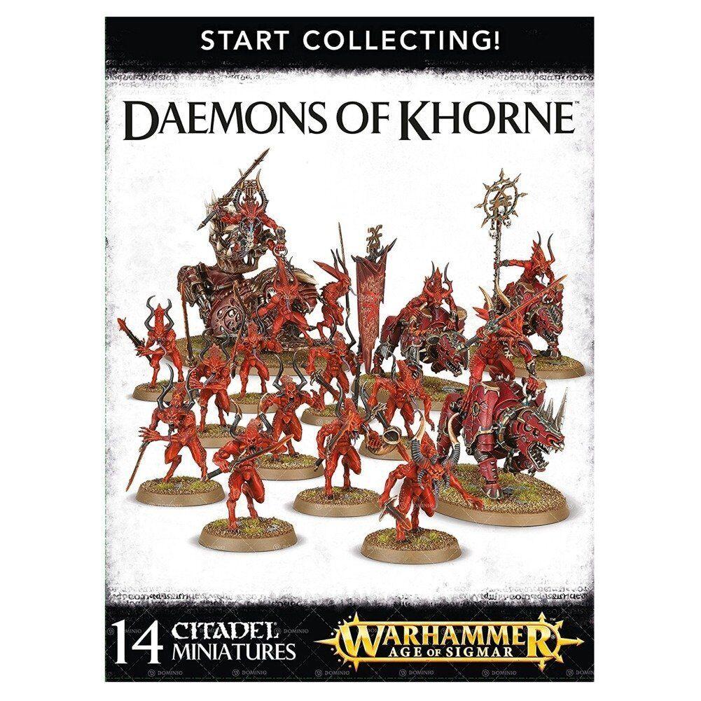 Warhammer edad de Sigmar empezar a recolectar  demonios de Khorne GWS 70-97 Nuevo En Caja