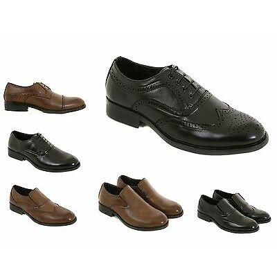 Mens Leather Formal Shoes Size 6 to 11 UK By London Shoe Co - CASUAL or OFFICE