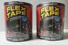 Flex Tape Strong Rubberized Waterproof Tape 4 X 5 Black 2 Pack