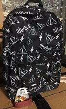 HARRY POTTER DEATHLY HALLOWS Always Symbols BACKPACK Book Bag + 9 3/4 Bracelet