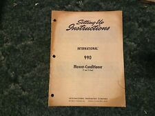 1083799R1 - is a New Set up Instructions Manual for an IH 990 Mower Conditioner
