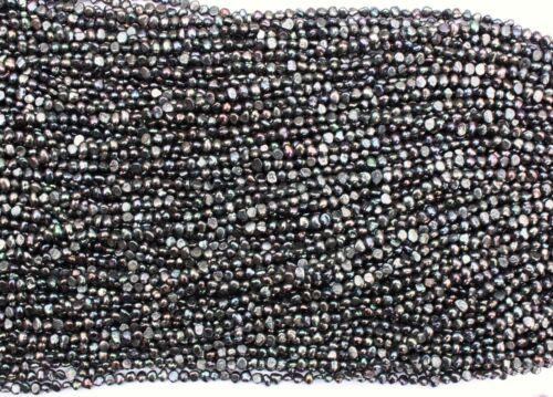 BR50S Zuchtperlen Strang Süßwasser Perlen Schmuck Kette D 5mm Halskette barock