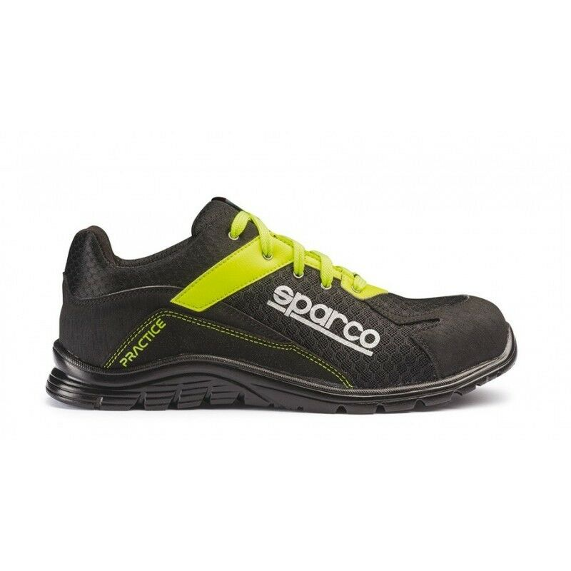 ottima selezione e consegna rapida Sparco Practice NRGF nero giallo fluo fluo fluo scarpe antinfortunistiche S1P SRC lavoro  punto vendita