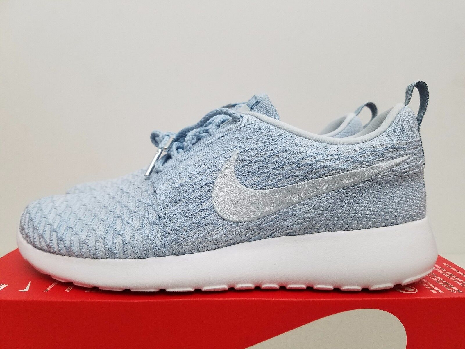 Nike Womens Roshe One Flyknit LT Armory Blue 704927-401 Size 10