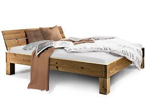 Massivholzbett Futonbett VINTAGE CURBY Holzbett THERMO-Fichte 90x200 bis 200x200