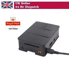 ABS Caso Shell Custodia Nero + Set Dissipatore di calore per Raspberry Pi 3 B/2 B/B +