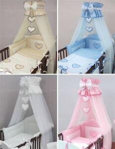 10 Teiliges Luxus Baby Bettwäsche Set Passend Zu Gitter Kinderbett