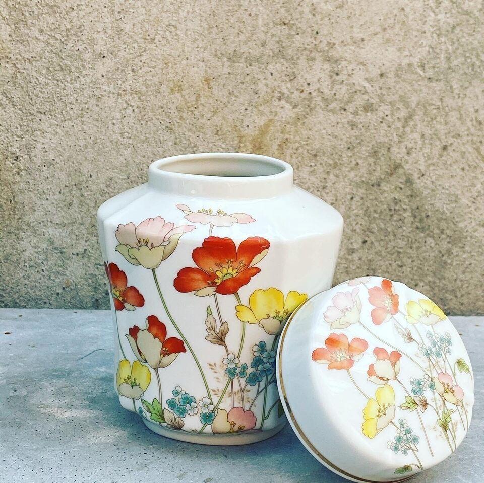 Porcelæn, Lågkrukke, Vintage
