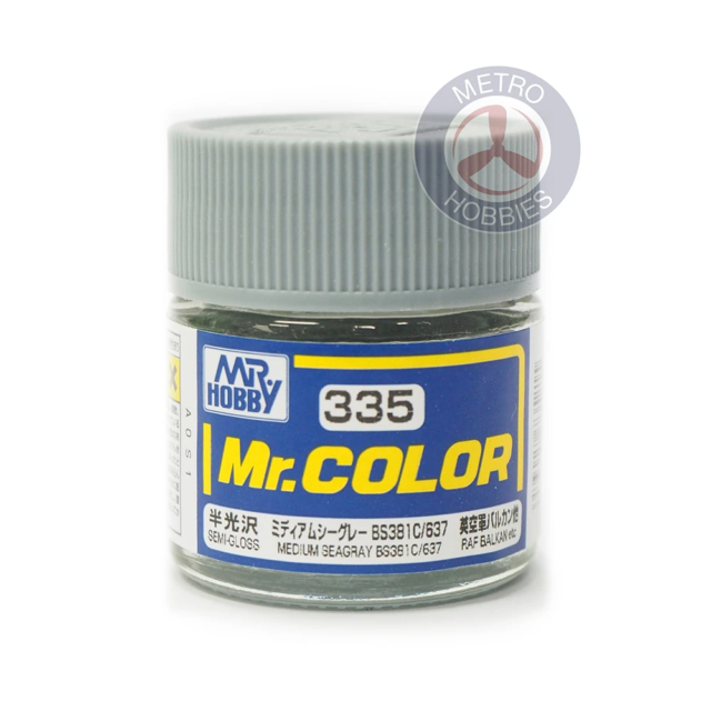 Gunze C335 Mr Color Semi Gloss Medium Sea Grey BS381 C637 Brand New