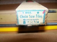 Collar Brand Chain Saw Files 8 X 1/4 Vintage Model Brand In Original Box