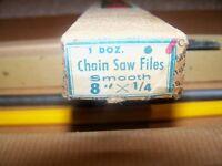 Collar Brand Chain Saw Files 8 X 1/4 Vintage Model Brand In Original Box