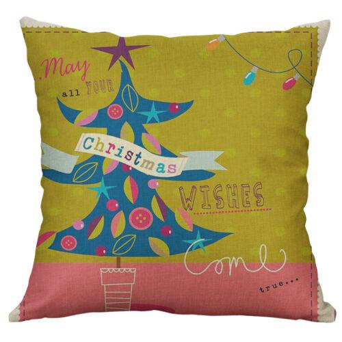 """18/"""" Cotton Line Christmas pendant sock cow Print pillow case Home Decor Cover"""