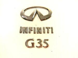 2004 Infiniti G35 Rear Trunk Lid SEDAN OEM Emblem Badge Letter N Logo 04 05 06