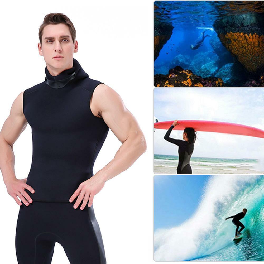 Slinx Unisex 3mm Neoprene Sleeveless Hooded Diving Vest  Thermal Surfing Wetsuit  choose your favorite