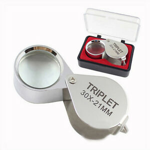 Portable-Jewellers-Pocket-Lens-30X-21mm-Loupe-Magnifying-Eye-Glass-Magnifier-SE