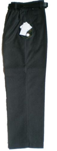 Boys youth slim school uniform pantalon demi taille élastique avec ceinture 4-13
