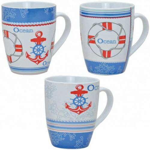 2x Porcelaine Café-Gobelet Tasse Coffee Mug en maritime-Design 10 x 8 cm