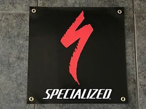 Specialized banner sign shop wall garage mountain bike bicycles trail downhill