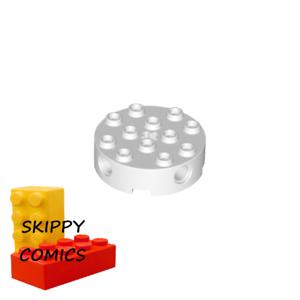 Lego 4203583-6222 Brique ronde technic round brick 4x4 BLANC WHITE