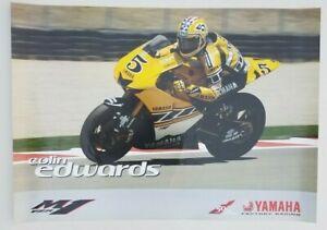 Vintage Poster 2011 Colin Edwards Yamaha YZR-M1 50th Anniversary MotoGP