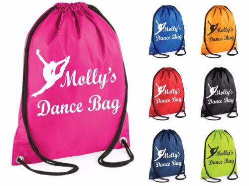 Personnalisé Danse Danse Sac De Gym Swim avec cordon de serrage école PE Kit Sports Kids