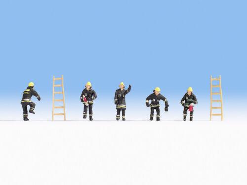 NOCH 15021 Spur H0 #NEU in OVP## Figuren Feuerwehr schwarze Schutzanzüge