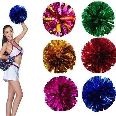 Cheerleading Pom Poms Flower Ball Dance Game Pompoms Props for Match Gymnastics