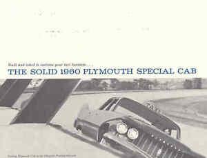 1960 Plymouth Taxi Sales Brochure tb87-IKU3LG