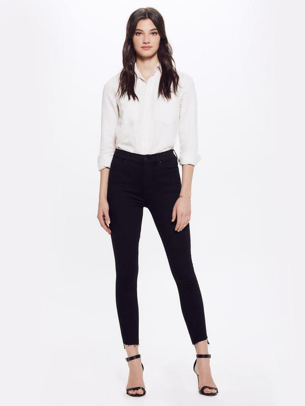 MOTHER The Stunner Zip Ankle Jeans in Not Guilty Skinny Pants 31