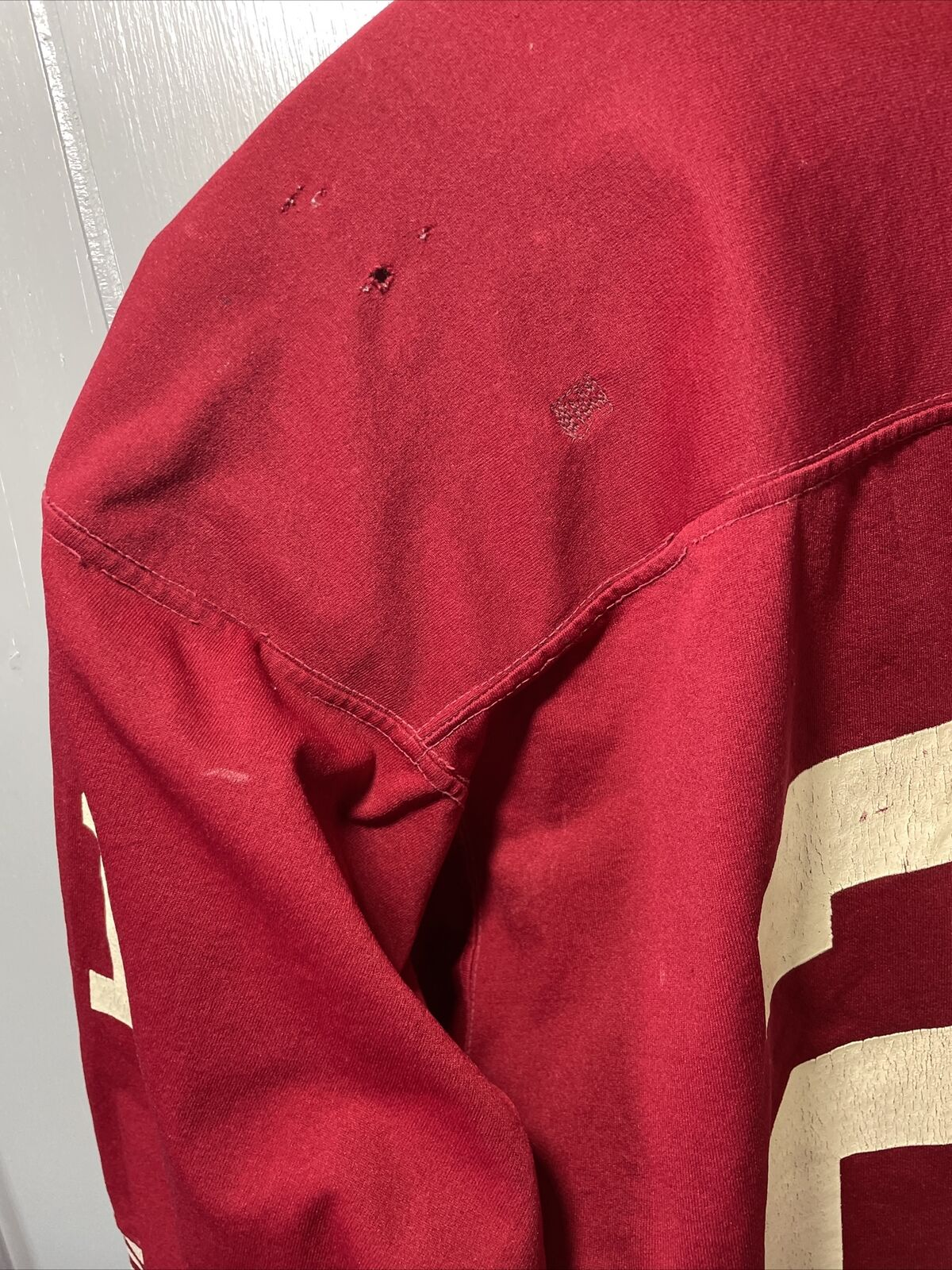 VTG 70's Russell Athletic Red Football Jersey #21… - image 11