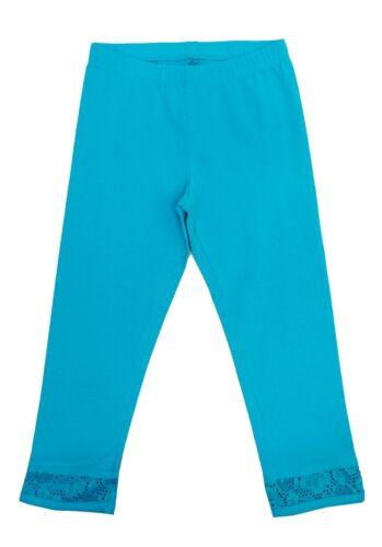 SO Tiki Turquoise Lace Hem Capri Leggings Girls Pants Sz 6-16
