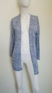 Divided-BY-H-amp-M-women-039-s-Heathered-Blue-gray-Cardigan-size-XS