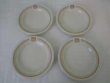 4 Vintage Buffalo Pottery Restaurant Ware Disney Gold Band Bread Butter Plates