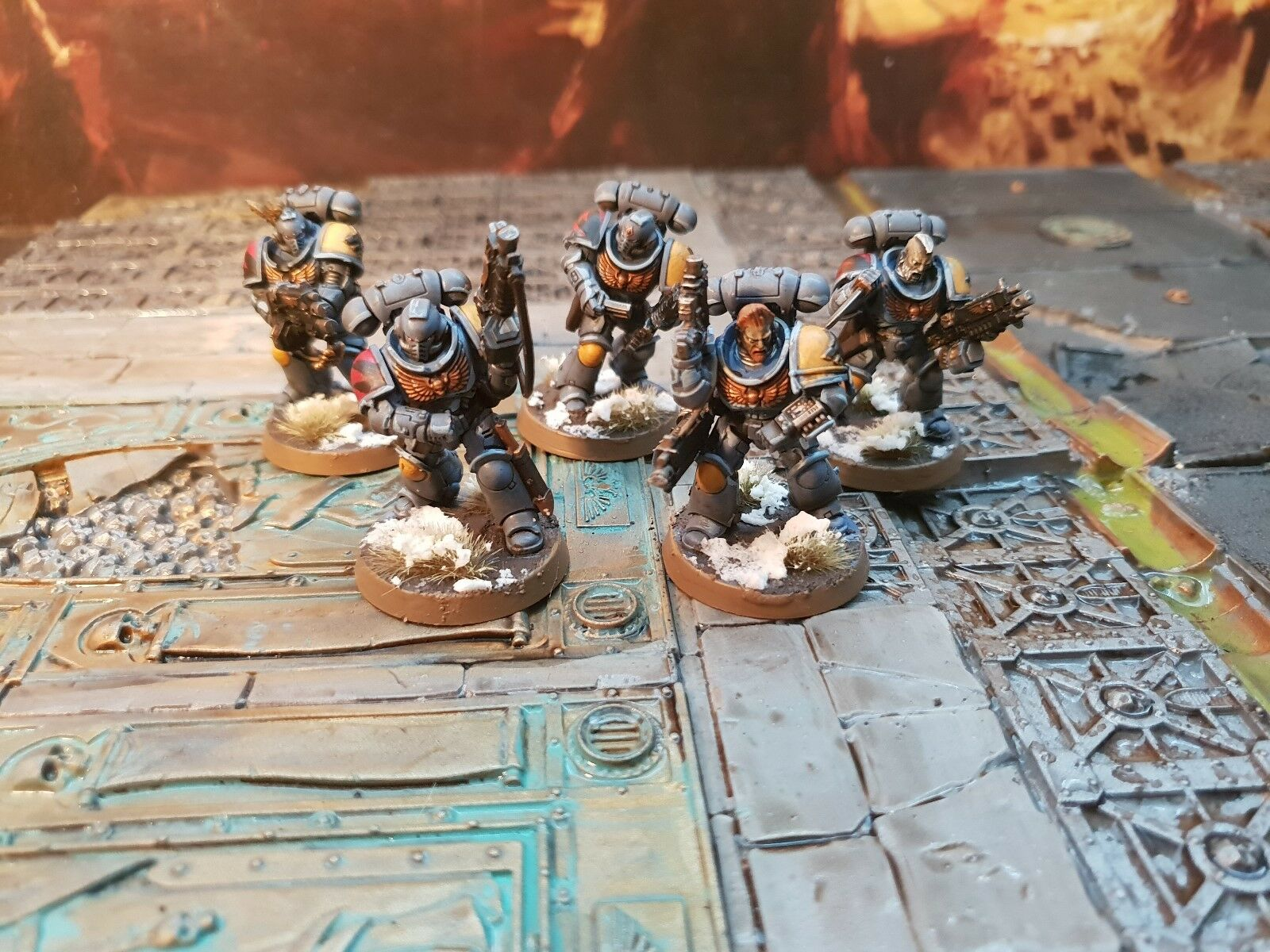 Warhammer space wolves Primaris intercessors 10 man  pro painted made to order