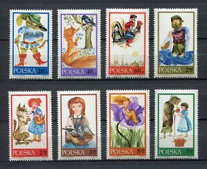 35777-POLAND-1968-MNH-Fairy-Tales-8v-Scott-1569-76